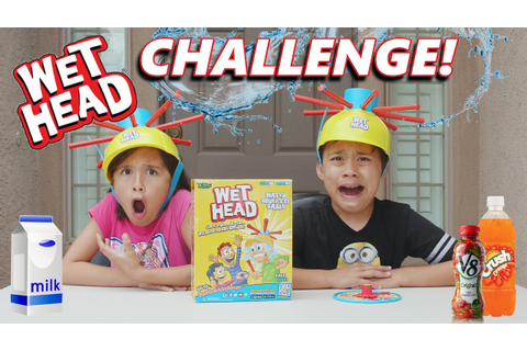 WET HEAD CHALLENGE!!! Extreme Liquid Hat Game in 4K! - YouTube