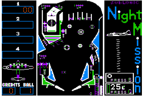 Night Mission Pinball Screenshots for Apple II - MobyGames
