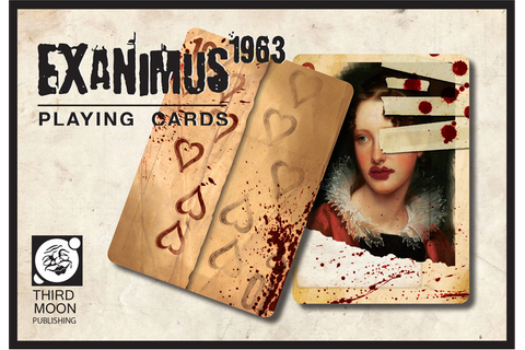 The Blood Splattered Zombie Exanimus 1963 Playing Cards by ...