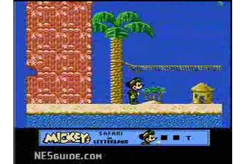 Mickey's Safari in Letterland - NES Gameplay - YouTube