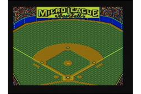 Micro League Baseball 1 Download (1984 Sports Game)