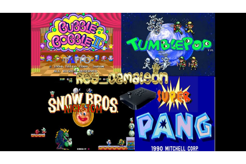 MULTI RETRO ARCADE GAMES 1.PANG - 2.TUMBLEPOP - 3.BUBBLE ...
