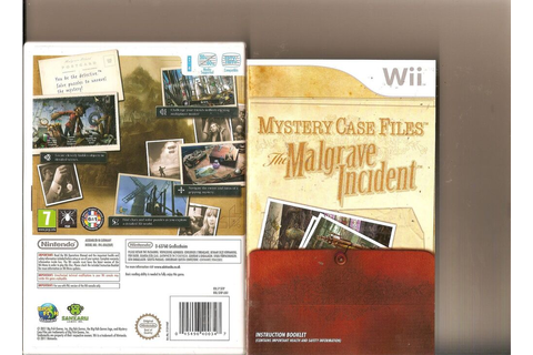 MYSTERY CASE FILES THE MALGRAVE INCIDENT NINTENDO WII ...