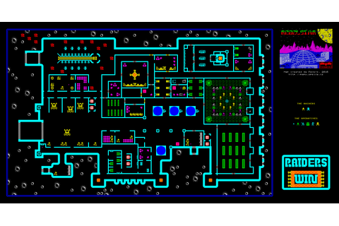 ZX-Spectrum Games - Rebelstar 1 - mapa