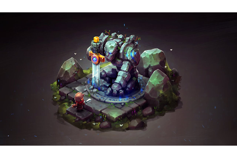 ISOMETRIC ANCIENT GOLEM Concept Art for Game - YouTube