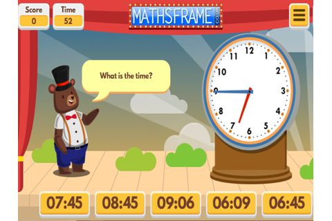 Telling the Time - Mathsframe