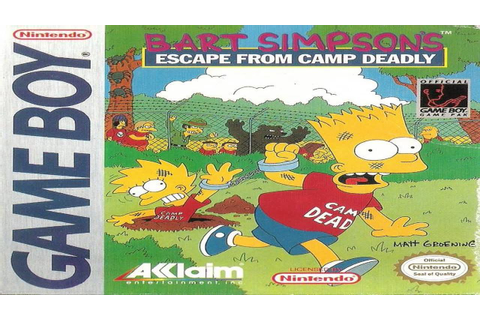 Bart Simpsons Escape From Camp Deadly - YouTube