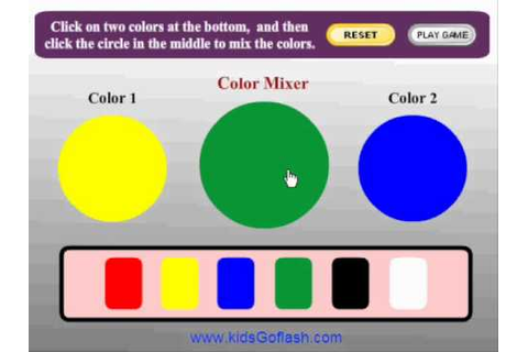 Preschool Game for kids - Color Mixer - YouTube