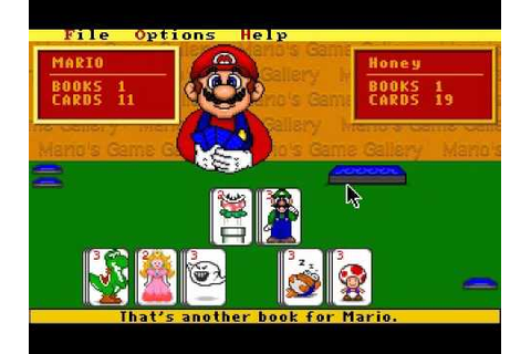 Mario's Game Gallery Go Fish - YouTube