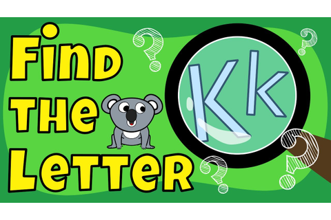 Alphabet Games | Find the Letter K - YouTube