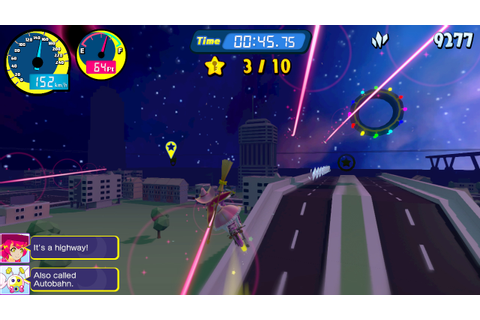 Vroom in the night sky: more details (HD rumble), screens ...