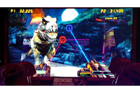 Jurassic Park Arcade Game 2-Player CO-OP Closed Booth Gun ...