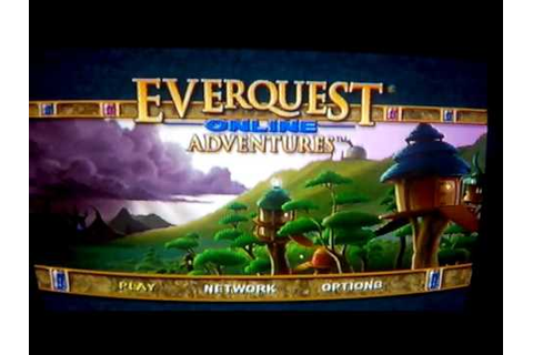 Testing EverQuest Online Adventures on PS2 in 2016 - YouTube