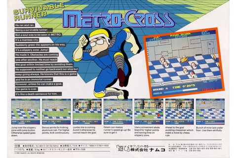 Metro-Cross (1985) by Namco Arcade game