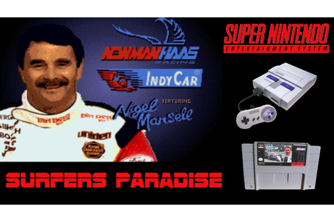SNES - Newman/Haas IndyCar featuring Nigel Mansell ...