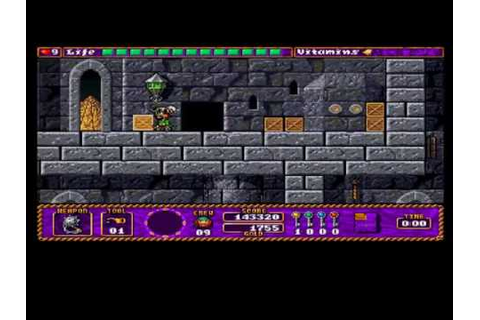 Amiga Speedrun Traps 'n' Treasures Level 4 Fortress - YouTube
