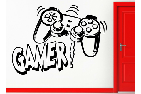 Wall Stickers Vinyl Decal Video Games Gamer Joysticks Xbox ...