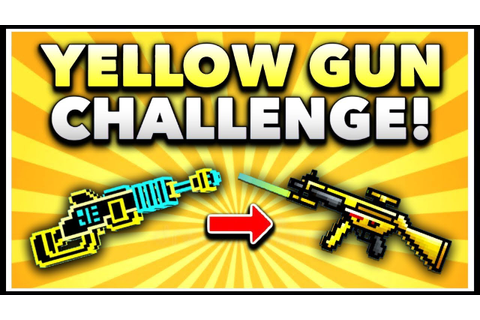Pixel Gun 3D - Yellow Gun Game Challenge! (Using ALL ...