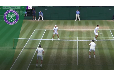Seeing double at the doubles?! Two balls in play in crazy ...