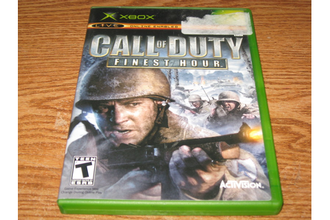 Free: ORIGINAL XBOX CALL OF DUTY FINEST HOUR GAME ...