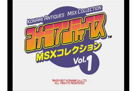 Konami Antiques MSX Collection 1 - Game Select - YouTube