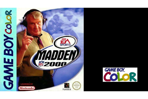 Madden NFL 2000 (Game Boy Color) Redskins vs Seahawks ...