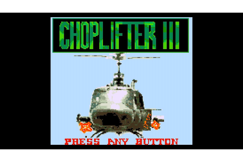 Choplifter III (Game Gear 60Hz) - Intro / Attract Mode ...