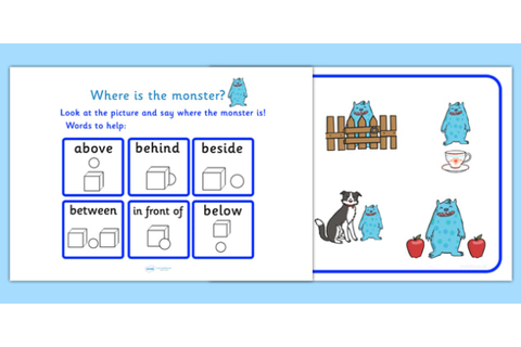Where Is The Monster Preposition Game - monsters, games ...
