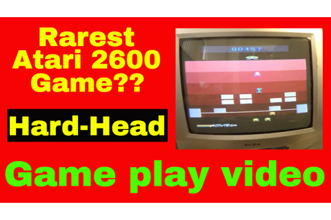 Is this the rarest Atari 2600 game ever? Hard-Head PAL ...