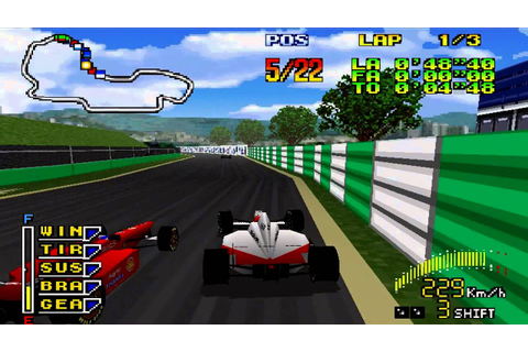 F1 Pole Position 64 Battle Gameplay (Nintendo 64) - YouTube