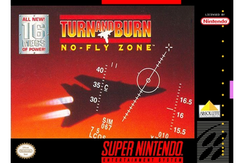Turn and Burn No Fly Zone SNES Super Nintendo