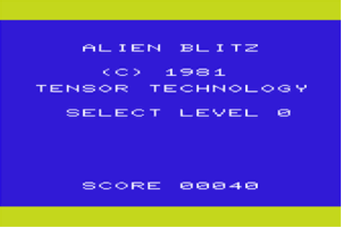 Download Alien Blitz (VIC-20) - My Abandonware