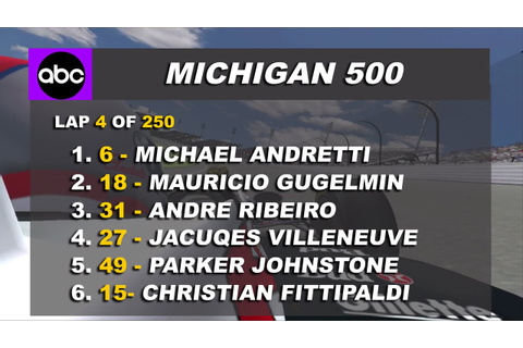 RFactor: IndyCar 1995 Mod, Michigan 500 first laps ...