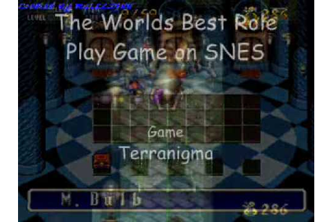 The Worlds Best RPG on SNES - Terranigma - YouTube