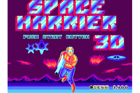 Space Harrier 3D (1988) by Sega Master System game