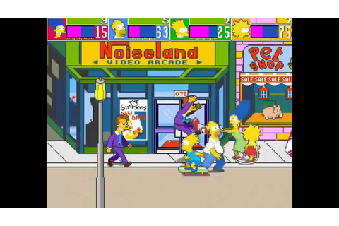 The Simpsons Arcade Game 4 player Netplay 60fps - YouTube