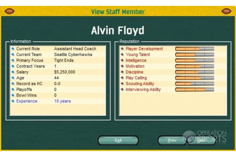 Front Office Football FOF (PC) - Sports Manager Video ...