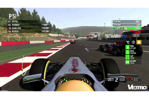 F1 2011 McLaren Hamilton Spa Gameplay (HD 1080p) - YouTube