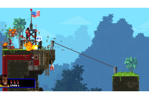 Broforce PS4 #4 | Covert Mission 2 - YouTube