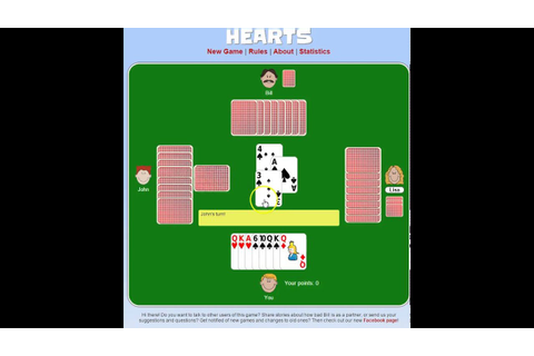 Perfect Hand in Hearts (Card Game) - YouTube