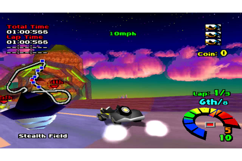 Motor Toon Grand Prix (1994) Gameplay Championship Race ...