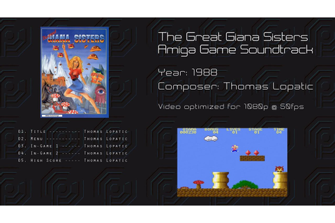 The Great Giana Sisters -= Amiga Game Soundtrack =- - YouTube