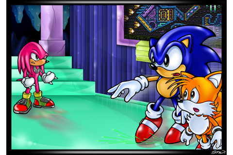 Sonic and Tails vs. Knuckles in Hidden Palace | Sonic the ...