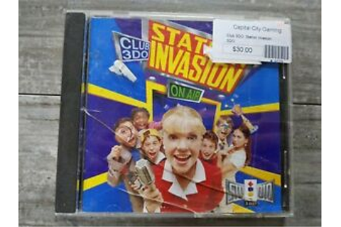 CLUB 3DO STATION INVASION (3DO) game Complete With Manual ...