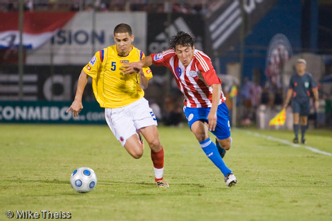 Soccer Sports Stock Photos - Paraguay Colombia FIFA Soccer ...