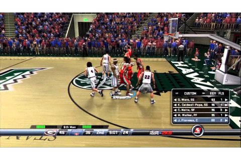 College Hoops 2k8 - My Player - UGA Tournament Game 2 ...