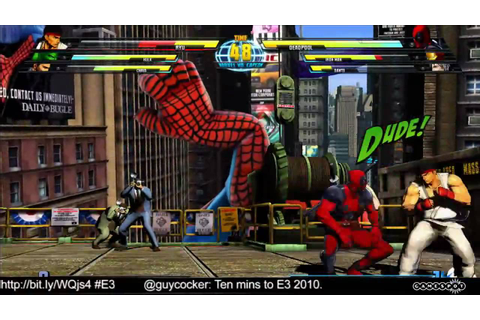 Marvel vs. Capcom 3: Fate of Two Worlds - E3 2010 Stage ...