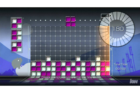 Lumines Supernova PlayStation 3 Gameplay - Dig Down Mode ...