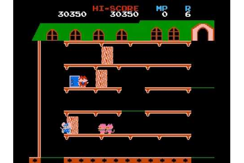 Mappy NES - YouTube