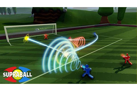 Supraball: first person shooter mayhem on a soccer field ...